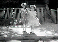LEAH AND VAL IN EASTER DRESS (EST 1950-51)