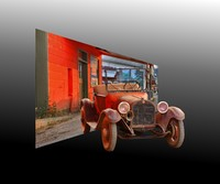161A - 1915 DODGE - OUT OF FRAME (1:1.25 gallery wrap)