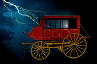 #609E - STAGE COACH IN STORM (8X12)