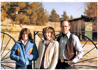 1980 - kathy, val, chuck nelson - thanksgiving at ranch