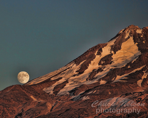 Moon Over Mt. Shasta