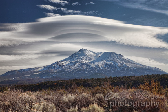 Lenticular Clous Above Mt Shasta